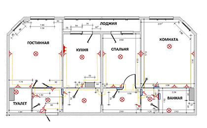Проект расположения электрики